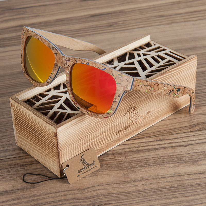 Polarized Wooden Bamboo Sunglasses BS03