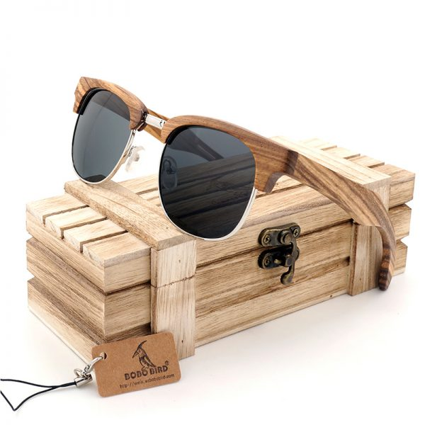 Cat Eye Wooden Sunglasses