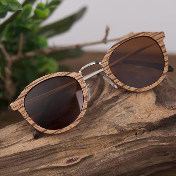 Wooden Bamboo Polaroid Sunglasses BS06