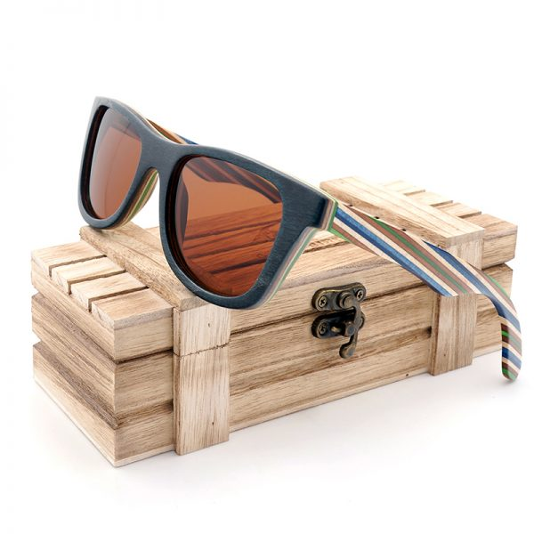 Skateboard Wooden Sunglasses