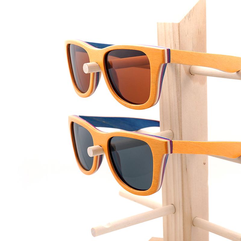 Skateboard Wooden Sunglasses