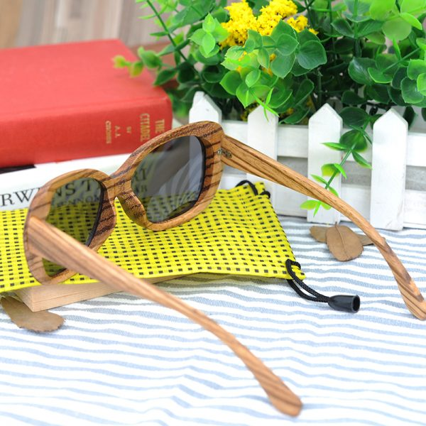 Oval Wooden Sunglasses
