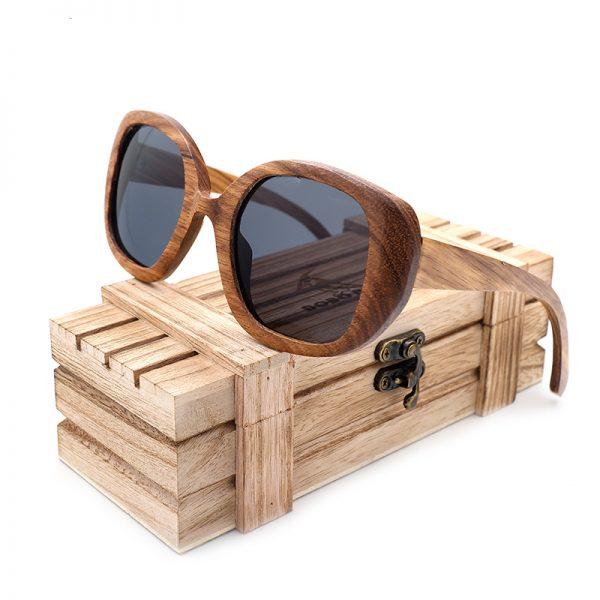 Vintage Zebra Wooden Sunglasses