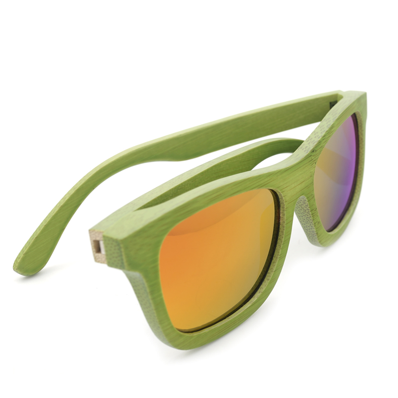 Green Bamboo Wooden Sunglasses B11
