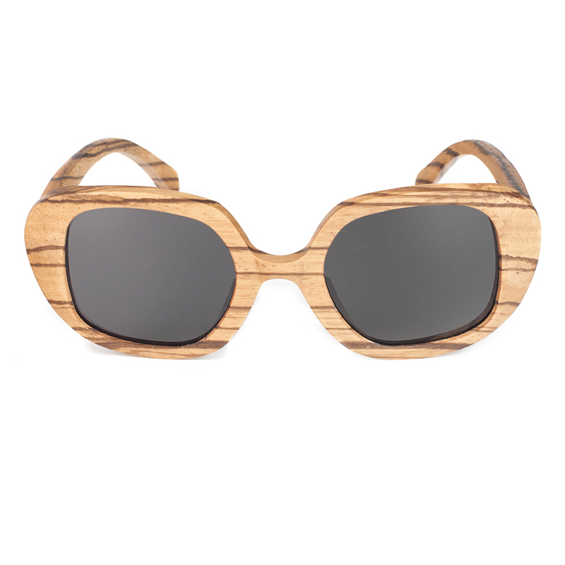 Wooden Bamboo Sunglasses Zebra