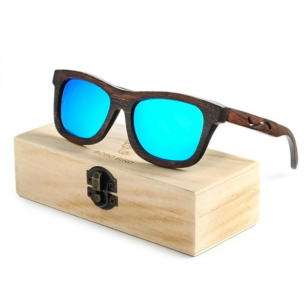 Black Wooden Bamboo Sunglasses B14