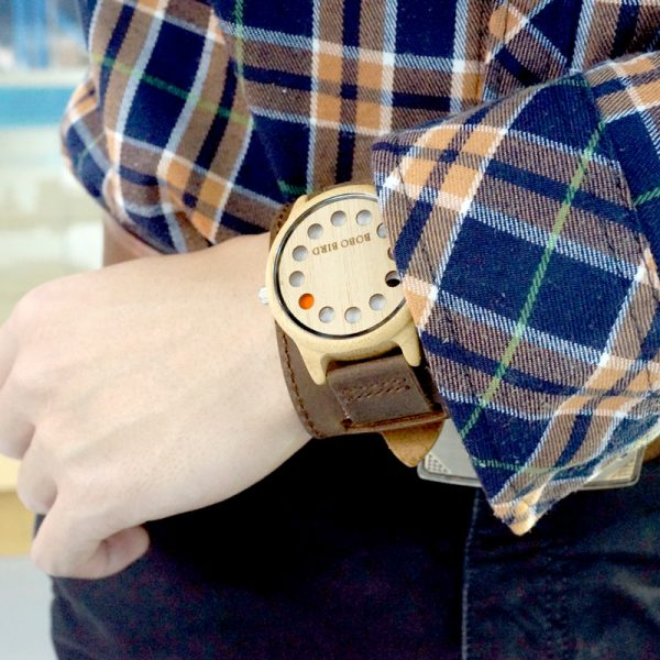 Unique Dial Wooden Watch