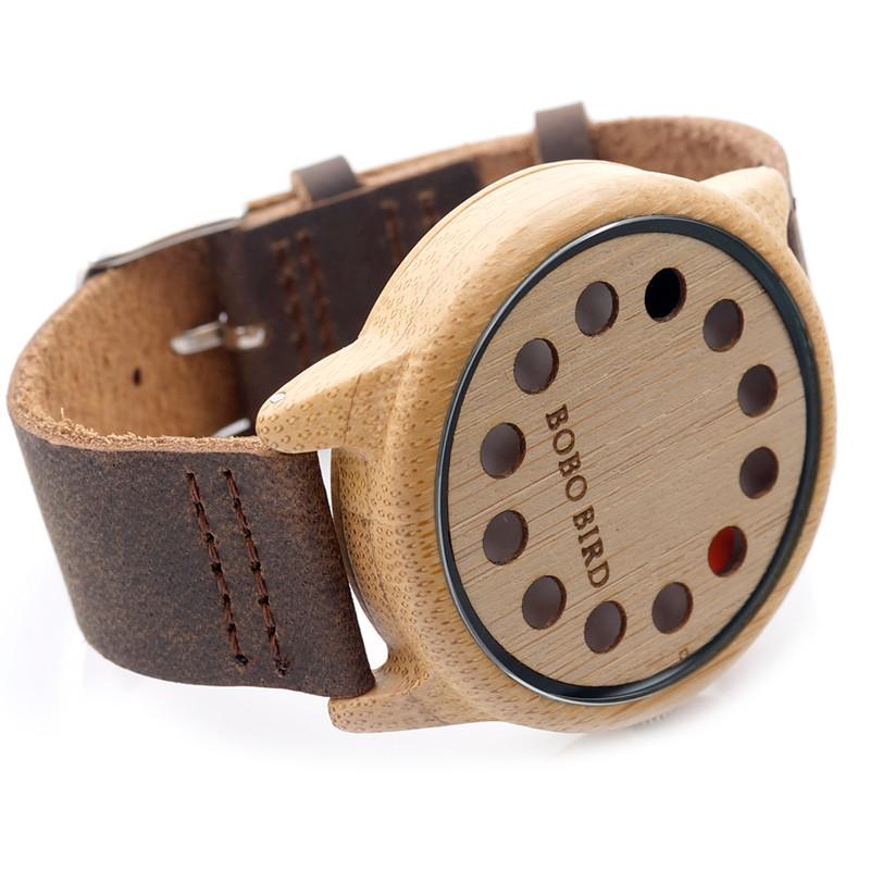 Unique Dial Wooden Watch