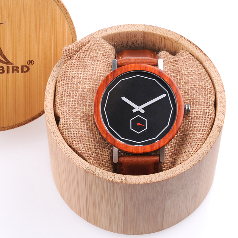 Mahogany Wooden Watch