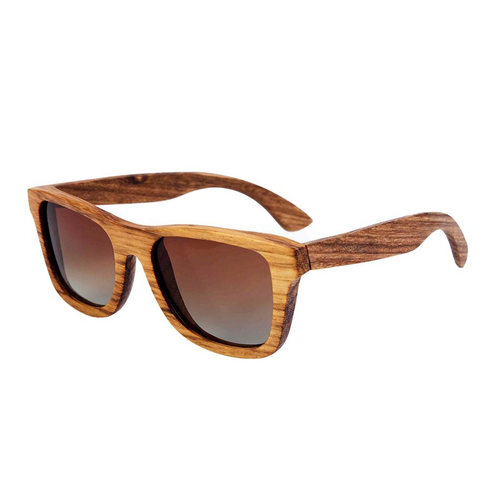Zebra Wood Sunglasses B22