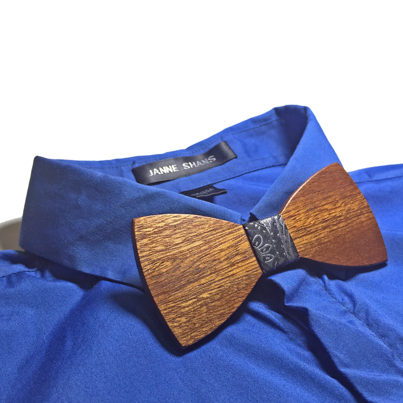 Wooden Bow-Tie T01