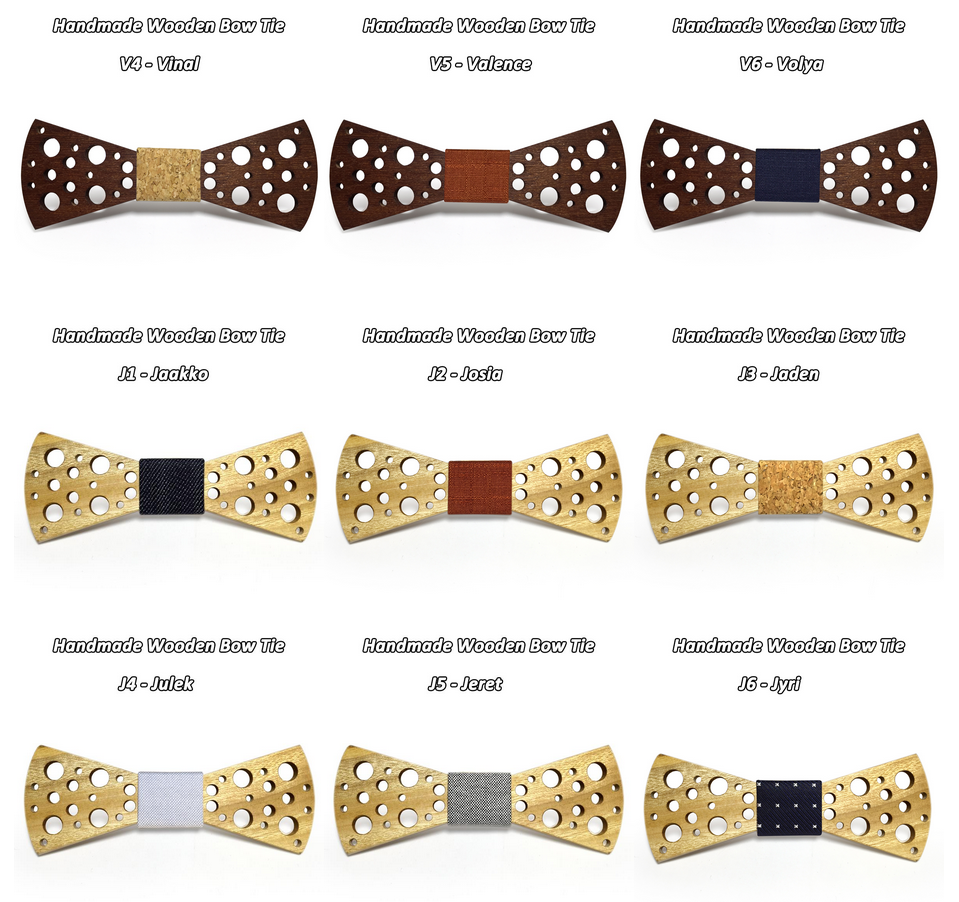 Wooden Bow-Tie T17