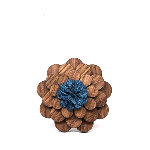 Wooden Lapel Brooch L02