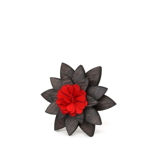 Wooden Lapel Brooch L03