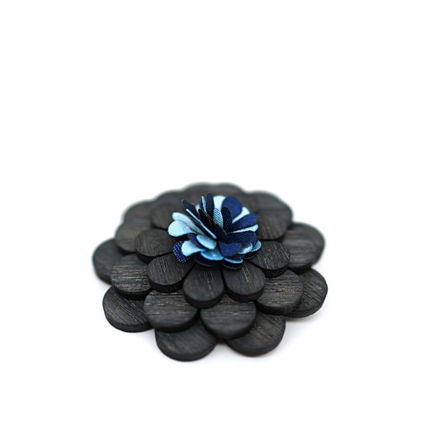 Wooden Lapel Brooch L04