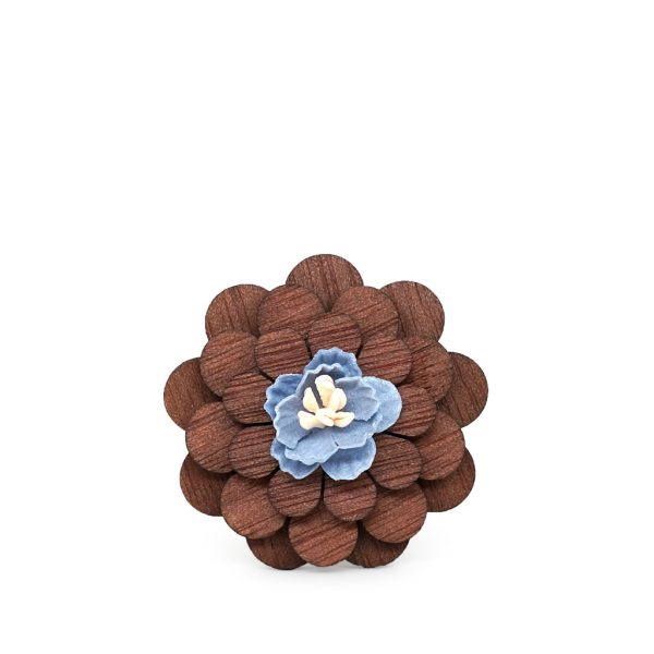 Wooden Lapel Brooch L05