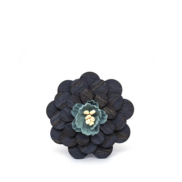 Wooden Lapel Brooch L06