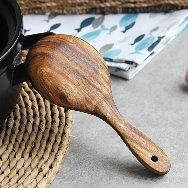 Handmade Solid Wood Rice Paddle