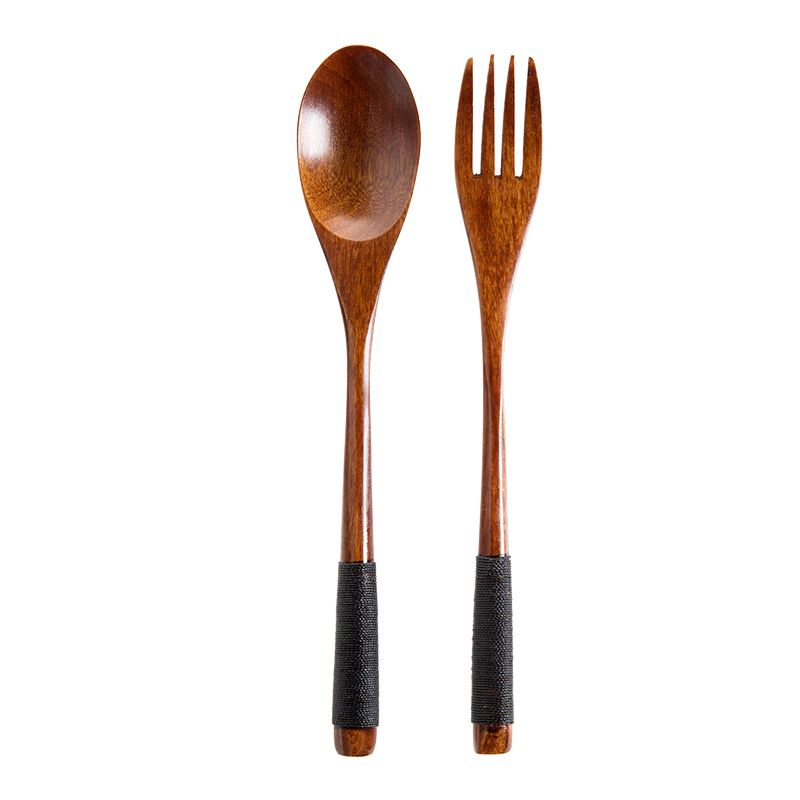 2 Pieces Wooden Dinerware Set