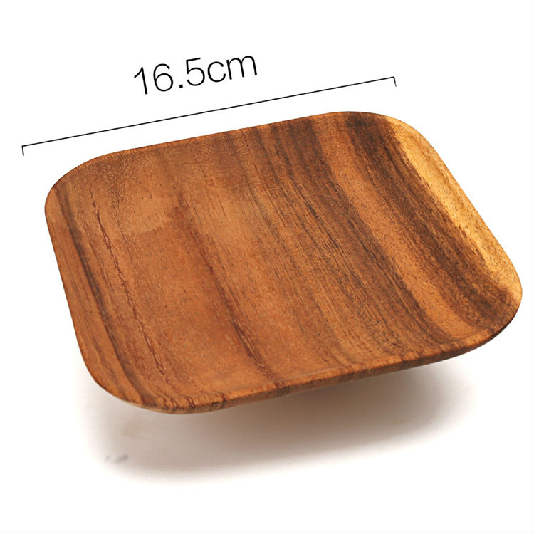 Square Small Vintage Wooden Tray