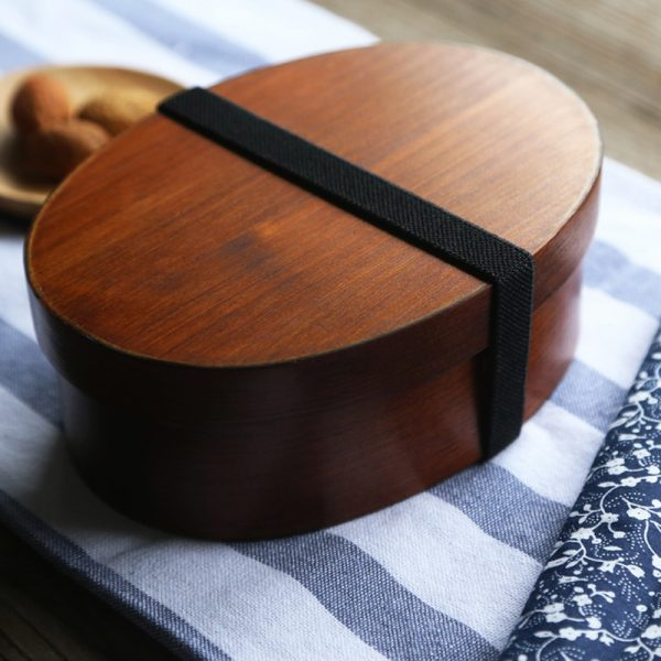 Handmade Japanese Small Bento Wooden Box