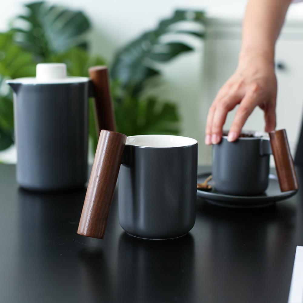 Ceramic/Wood Handle Mug