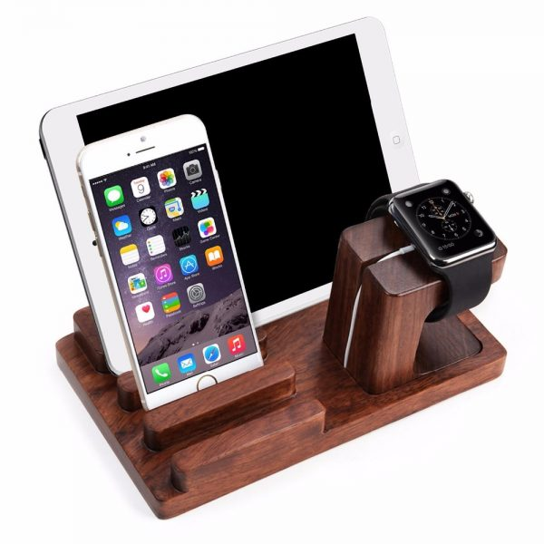 4in1 Rosewood Wooden Docking Station