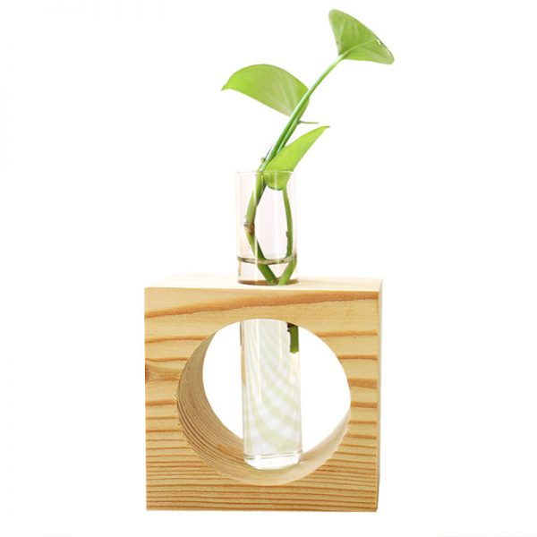 Wooden Hydroponic Plant Container