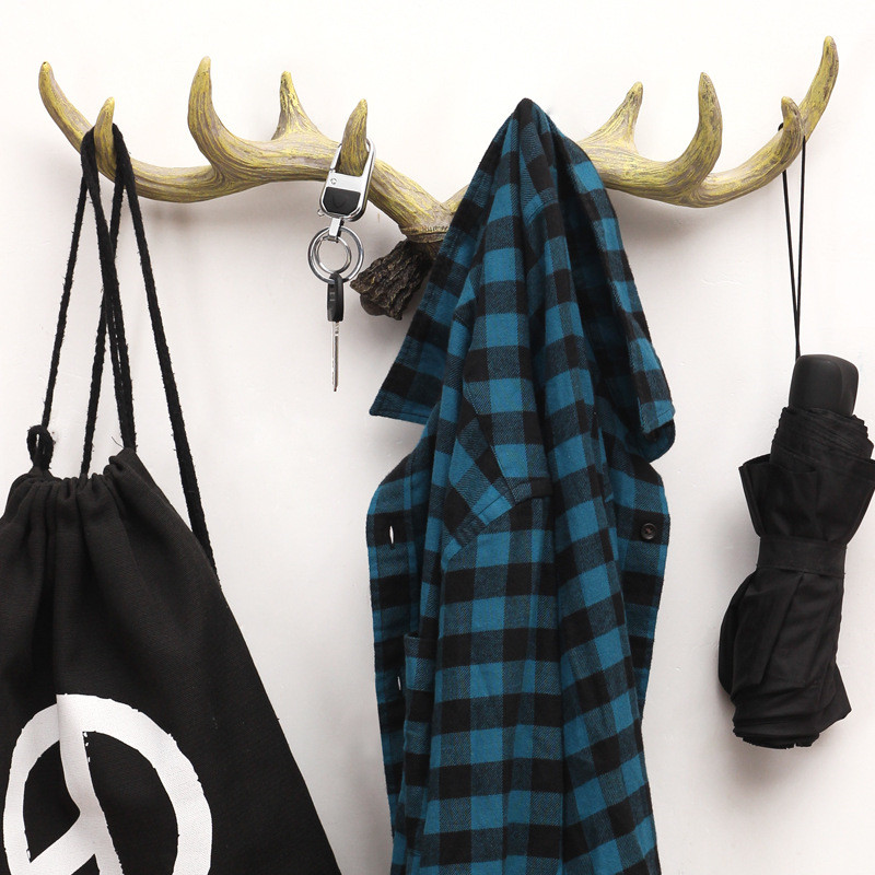Nordic Style Antlers Wooden Coat Hook