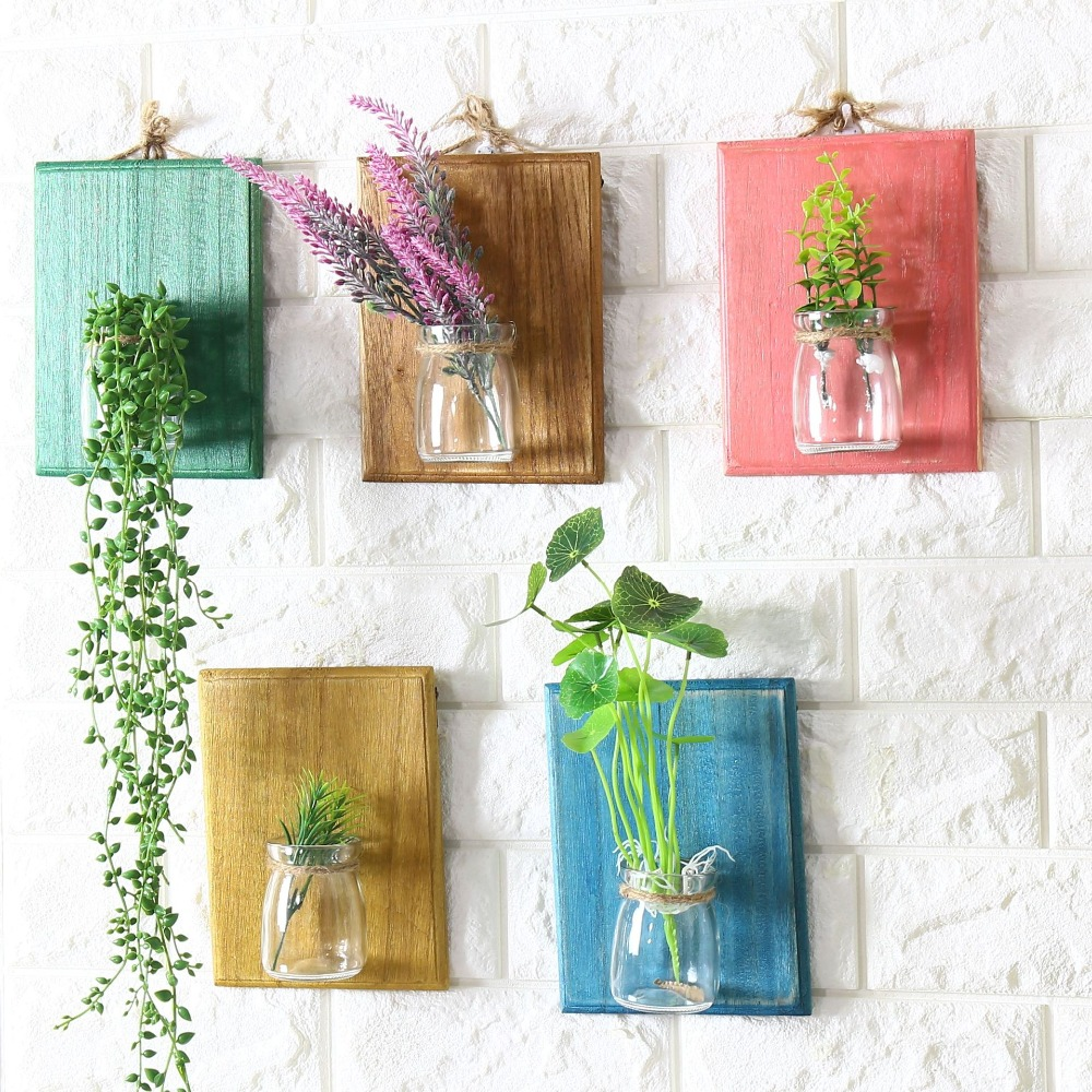 Wood Flower Pot Wall Hanger