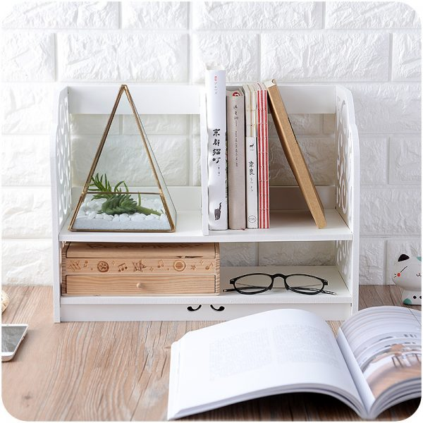 Wooden Retro Desk Shelf