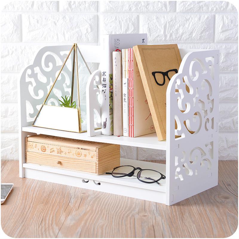 Wooden Retro Desk Shelf