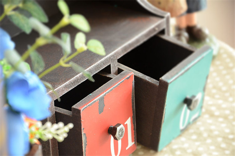 Handmade Wooden Retro Key Box