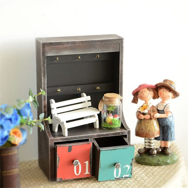 Handmade Wooden Retro Key Box