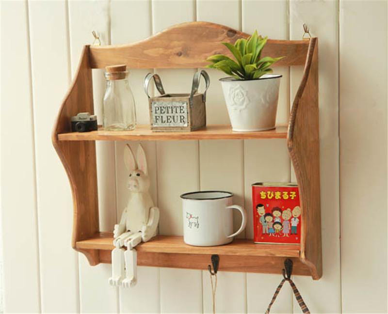Solid Wood Vintage Wall Shelf